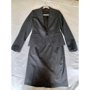 Express Grey Skirt Suit Set